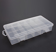 Plastic 6 Compartments Storage Case for Fishing(Transparent)