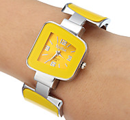 Women's Yellow Dial Quartz Analog Bracelet Watch