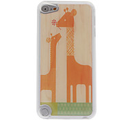 Cartoon Style Mother Giraffe and Son Giraffe Pattern Epoxy Hard Case for iPod Touch 5