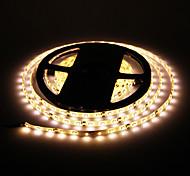 Impermeável 24W 5M 60x3528SMD 900-1200LM 2800-3200K luz branca quente LED Strip Light (DC12V)