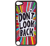 "Shimmering ""Don't Look Back"" Pattern Hard Case for iPod touch 5"