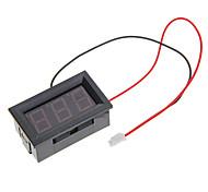 """V27D-T1 0.56 """"voltímetro LED 3-Digital - Negro (DC 3.2 ~ 30V)"""