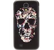 Fashion Designed Man-Shaped Flower Skull Pattern Protevtive Hard Back Case for Samsung Galaxy S4 I9500