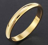 klassischen goldenen Kreis Titanstahlband-Ring Schmuck Schmuck für die Dame Mädchen