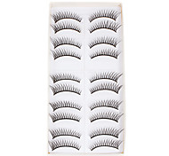 10Pcs Long False Eyelashes