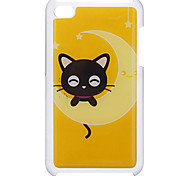 Cartoon Style Little Smiling Cat Pattern Epoxy Hard Case for iPod Touch 4