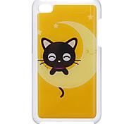 Estilo de dibujos animados pequeño sonriente patrón estuche rígido epóxico Cat para el iPod Touch 4