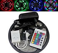 Wasserdicht 5M 300X3528 SMD RGB LED Streifen-Licht und 24Key Remote Controller und AC110-240V zu Dc12V3A Transformer