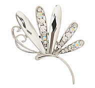 High-Quality Dragonfly Crystal Brooch