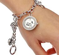 Donna modello della Rosa quadrante rotondo della lega della fascia di quarzo analogico della vigilanza del braccialetto