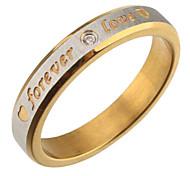 Einfache Frauen Goldene Geschnitzte Band Ringe (8 #)