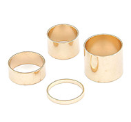 European Style Fashion 4 PCS Circle Ring Settings