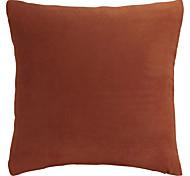 "17"" Squard Solid Soft-hand Suede Polyester Decorative Pillow With Insert"