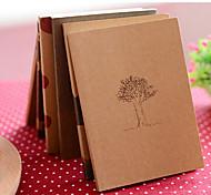 soñar tiempo notebook kraft cubierta diario papel (color al azar)