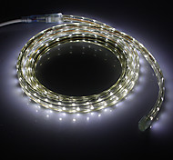 2M 7W 490lm 6000K 3528SMD Cool White LED Light Strip (220V)