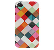 Colorful Grids Pattern PC Hard Case for iPhone 4/4S