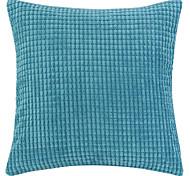 """18 """"Squard novedad Plaid textura de terciopelo de poliéster almohada cubierta decorativa"""