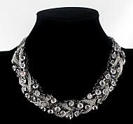 Fashion Black Alloy Choker Necklace(1pc)