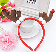 Fleece Brown Christmas Deer Style Hair Hoop for Pets Dogs
