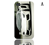 Roadster Pattern Hard Case with 3-Pack Screen Protectors for iPhone 4/4S
