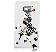 Zebra Pattern PU Leather Full Body Case for Samsung Galaxy S2 I9100