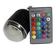 XLZM-RGB9QPD-YK E27 9W 420lm 1-LED RGB света лампы ж / Пульт дистанционного управления черный / серебристый (Номинальное напряжение)