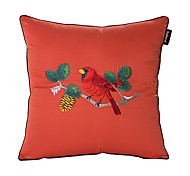 Contemporary Singing Bird In The Tree Brocade Decorative Pillow Cover