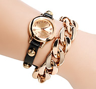 Women's Watch Golden Plated Chain Bracelet Cool Watches Unique Watches