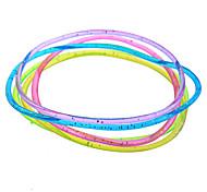 Lureme®5 pieces Friendship Glitter Colorful PVC Bracelet