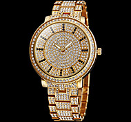 Women's Watch Fashion Full Diamante Round Dial Steel Band Cool Watches Unique Watches