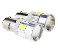 Ba9s 2.5W 6x5730SMD 70LM 6000K Cool White LED Bulb for Car (12V)