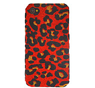 Stylish Leopard Print Pattern Shimmering Case for iPhone 4/4S (Assorted Colors)