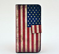 Vintage Us Flag Pattern Full Body Leather Tpu Case for iPhone 5/5S