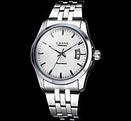 Herren Auto-Kalender Mechanische Silber Case Stahl-Band-Armbanduhr (verschiedene Farben)