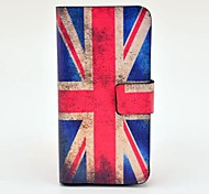 Vintage UK Flag Pattern PU Leather Case with Magnetic Snap and Card Slot for Samsung Galaxy S4 mini I9190