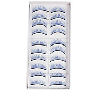 10Pcs False Eyelashes(Blue)