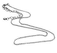 Europäische (einfach) Silber-Legierung Anhänger Halskette (Silber) (1 PC)