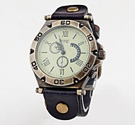 Unisex Vintage quadrante grande Roma Header fascia del cuoio del quarzo analogico Watch (colori assortiti)