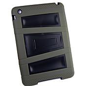 Silicon and Plastic with Stand Robot Case for iPad mini 3, iPad mini 2, iPad mini