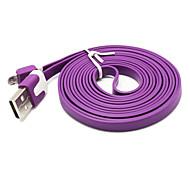 2m diseño del aspecto fideos cable micro USB para Samsung Galaxy Note 4 / s4 / s3 / s2 y lg / htc / sony / zte