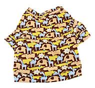 Hunde T-shirt Braun Hundekleidung Sommer Tier