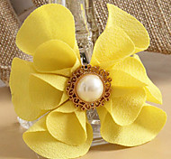 Flower Yellow Hair Ties