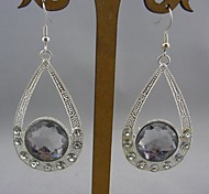 Fashion Silver with Crystal Water Drop Earrings for Women