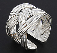 Klassische Damen Silber Silber Ring (8 #)