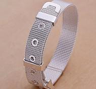6.6cm de mode Argent chaîne de cuivre hommes et de lien Bracelet (1 PC)