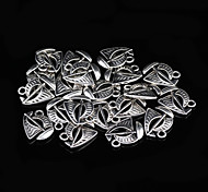 Classic Triangle Silver Alloy Charms 20 Pcs/Bag (Silver)