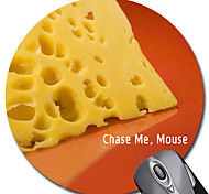 Personalized Gift Cheese Pattern Gaming Optical Round Mouse Pad (18x18cm)