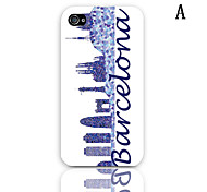 Barcelona Design Series Pattern Hard Case with 3-Pack Screen Protectors for iPhone 4/4S