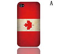 Vintage Le motif de drapeau mexicain Hard Case avec protection d'écran 3-Pack pour iPhone 4/4S