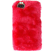 Deluxe Fluffy Flocking Hard Case with Diamond Camera Chrome for iPhone 5/5S (Assorted Colors)